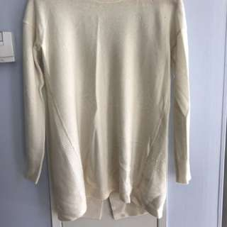 Cashmere Sweater With Back Detail Size S