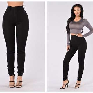 Fashionnova Black High-waisted Jeans