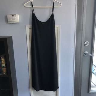 Aritzia Black Silk Dress Xs