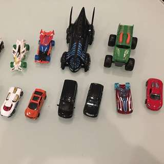 15 Assorted Toy Cars Hot wheels Batmobile