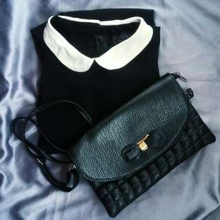 Dress Topshop+Slingbag