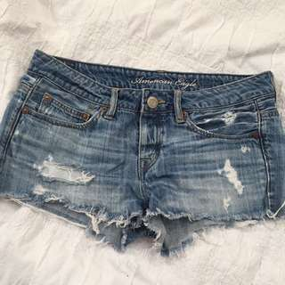 Ripped/distressed Denim Shorts
