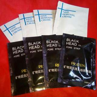 Hair Removal Cream & Black Heads Removal Mask