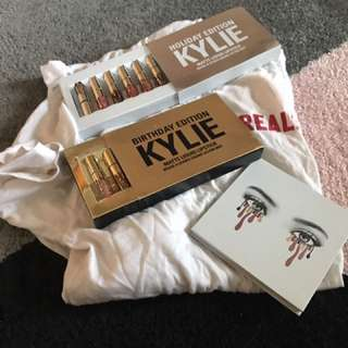 Kylie jenner Bundle - Lipsticks, Burgundy palette, Shirt