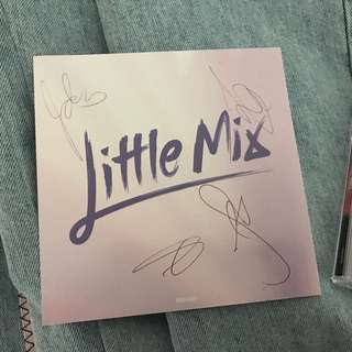 Little Mix Glory Days Signed Cd