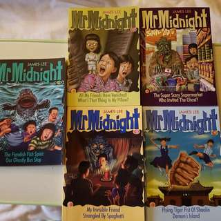 Mr Midnight books by James Lee