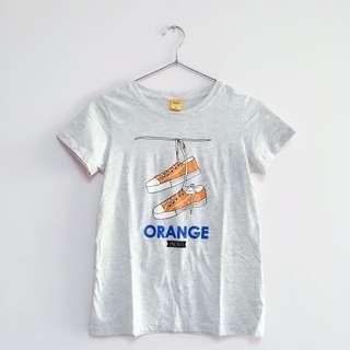 🚚 Orange 🍊 鞋鞋圖騰棉T