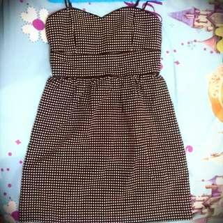 Mini Dress Hitam Polkadot