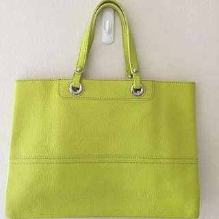 Oroton Entourage Lime Green Tote