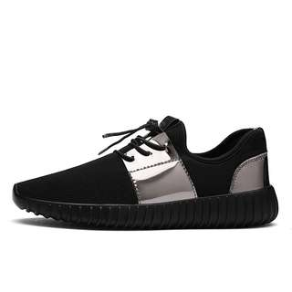 Street Wear Style Sneakers Silver Metallic Black