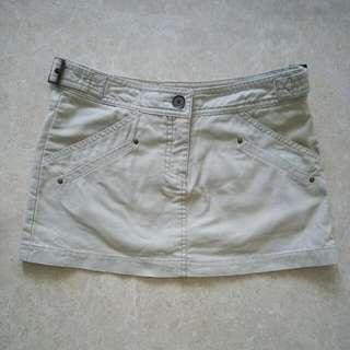 🚚 Mango MNG Mini Skirt In Khaki