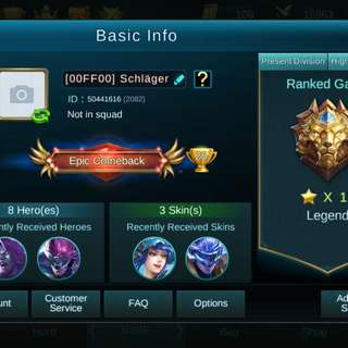 Mobile Legend Account (Android)