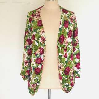 Flower Knitted Cardigan