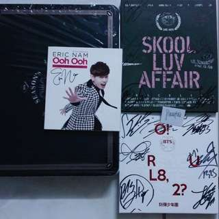 BTS signed promo & Eric Nam