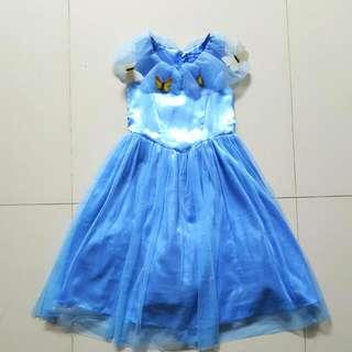 Gaun Pesta Cinderella Import 2nd Dress Tutu Biru