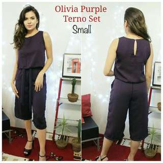 Olivia Terno Set In Purple