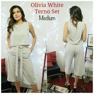 Olivia Terno Set In White
