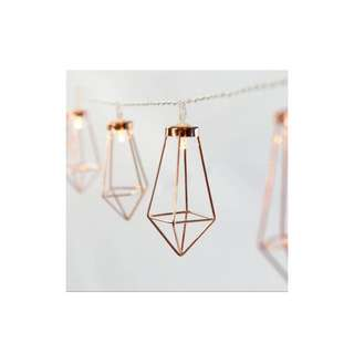 {FOR RENT} Battery Operated Wrought Rose Gold Diamond LED light