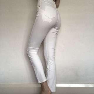 mink pink white jeans