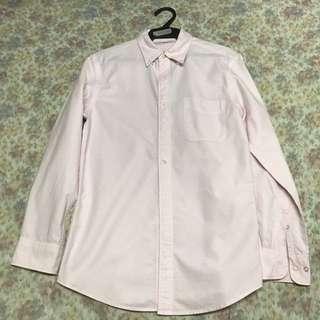 Uniqlo Long Sleeves Polo (Pink)