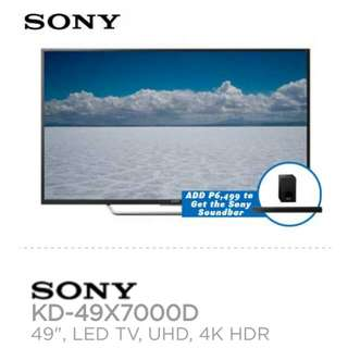 SONY 4k UHD with Sound Bar Bundle