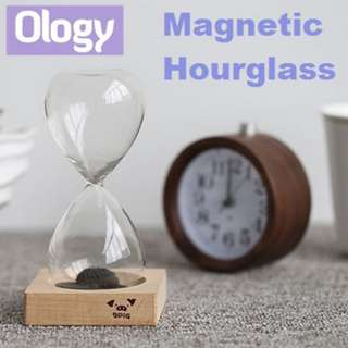 Magnetic Sand Hourglass Time Count Down Glasses Timer Creative Gift Idea