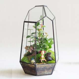 PRICE REDUCED!!! FREE MAILING!! - DEFECT SELLING BELOW COST - Geometric Pyramid Terrarium House (NOW $20) - Usual Price $45