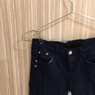 深藍顯瘦長褲 可換物