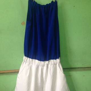 Blue WhiTe JumpshorT