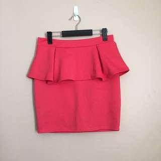 Pink Peplum Skirt