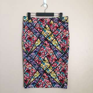Colourful Midi Skirt