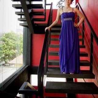 Long Dress Ungu [Reprice]