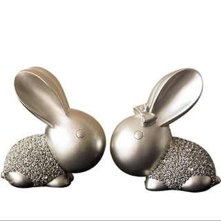 可愛溫馨兔仔擺設,多色