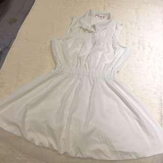 純白氣質洋裝 可換物