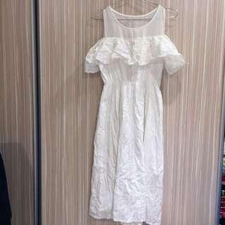 純白氣質洋裝~ 可換物