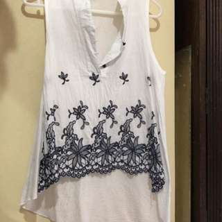 Chinese Collar Sleeveless Top