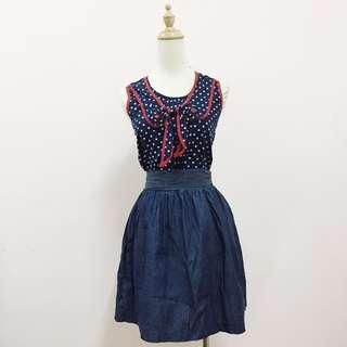 (Reduce!)Denim Flare Skirt