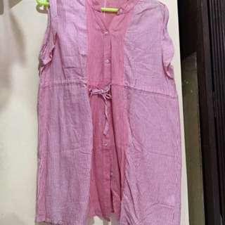 Pink Chinese Collar Top