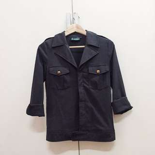 (Reduce!)Gold Stud Dark Grey Jacket