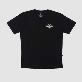 BRODO - Pakaian Pria Rectangle Black T-Shirt