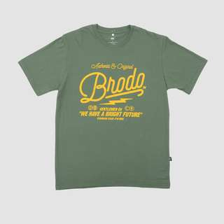 BRODO - Pakaian Pria Inscription Green T-Shirt