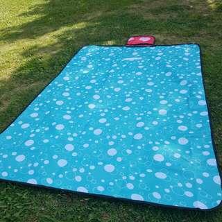 泡泡藍色防熱野餐墊. 沙灘墊 Picnic Blanket