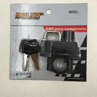 CNC Belta Motorcycle Universal Helmet Mounting Lock 22mm.