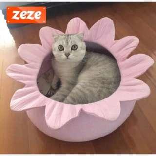 全新✨粉粉花苞寵物窩