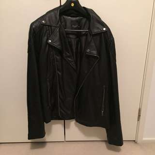 New Look PU Leather Biker Jacket