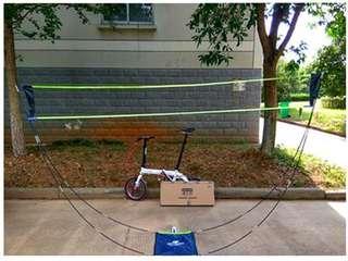 [Exclusive to send badminton racket group!] Badminton grid standard portable mobile grid simple creative mobile light folding camping treasure dream