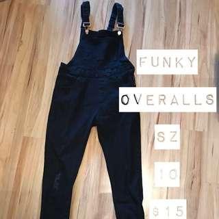 Funky Black Overalls