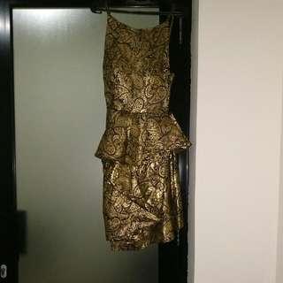 Dress Gold stretch - Hong Kong dress