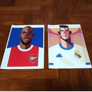 🔥SALE: Set Of Football Art Prints