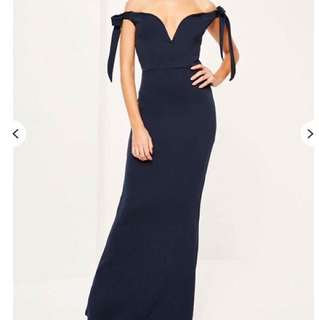 Navy Blue Formal Dress (Misguided)